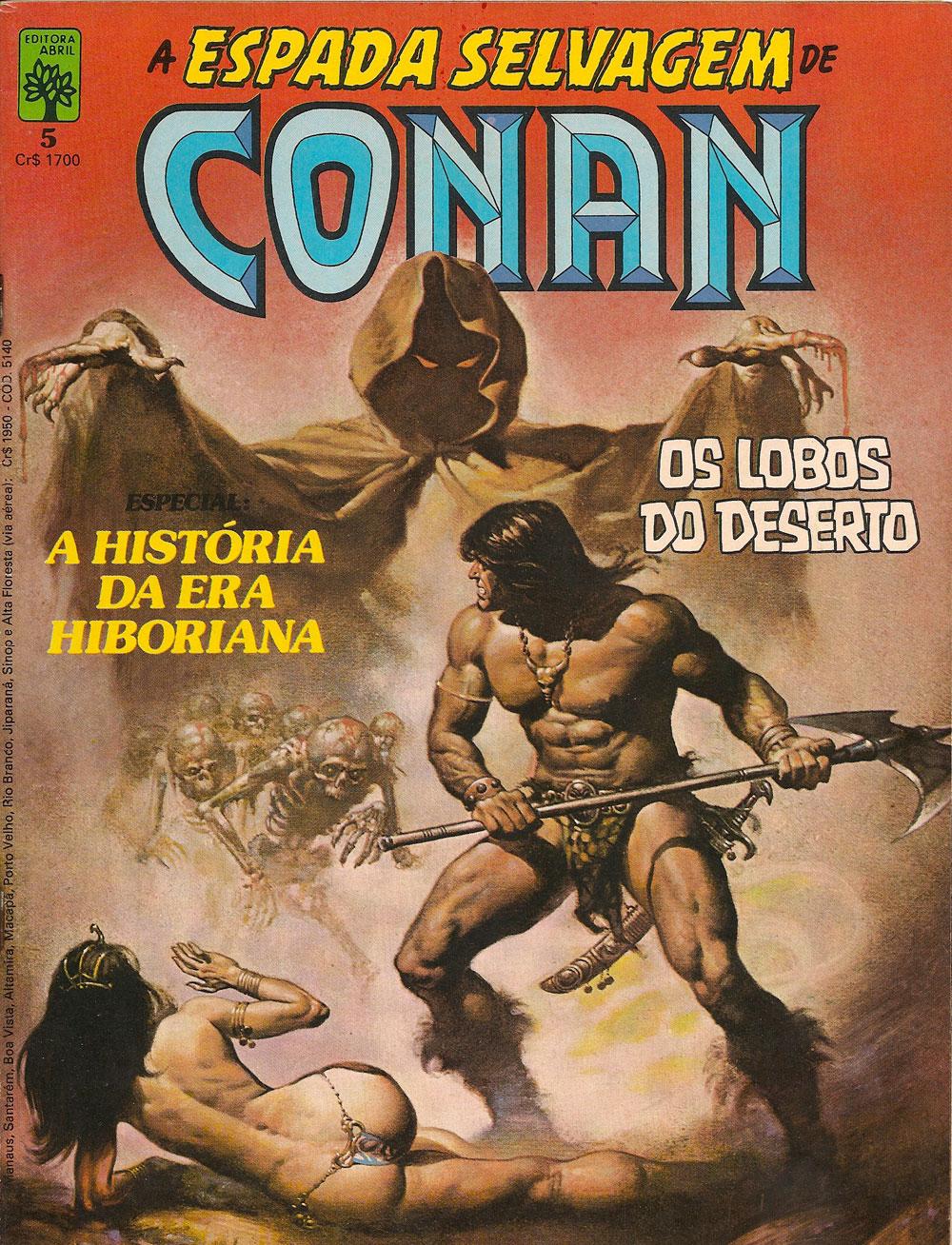 Capa: A Espada Selvagem de Conan 5