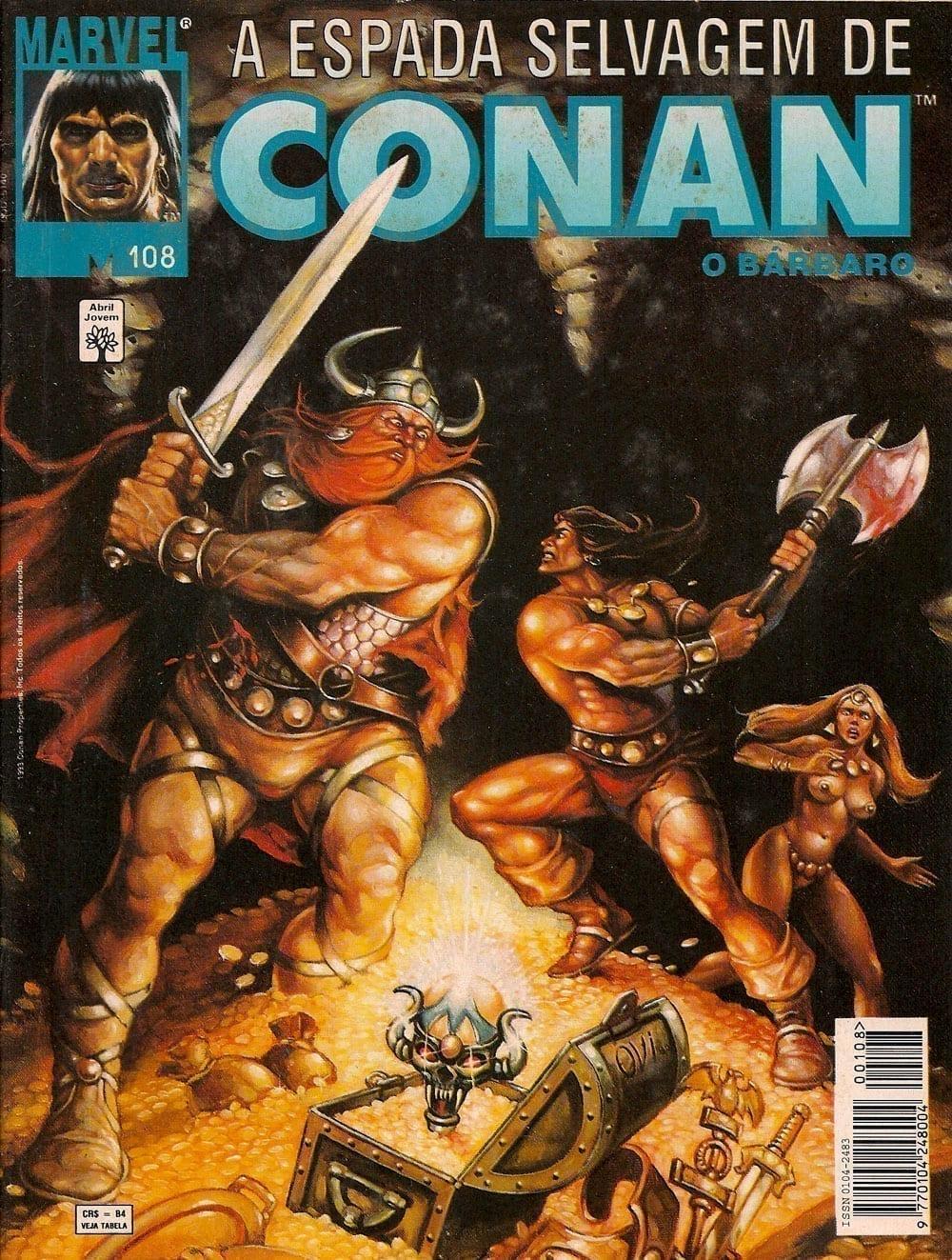 Capa: A Espada Selvagem de Conan 108