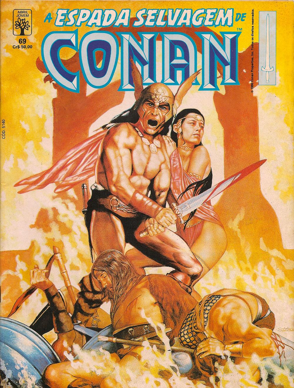 Capa: A Espada Selvagem de Conan 69