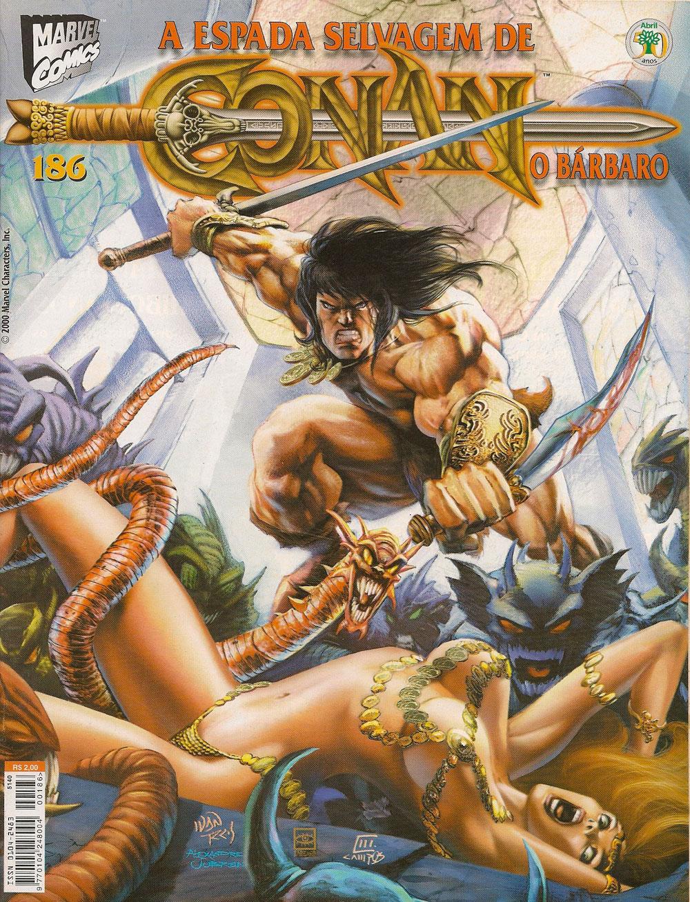 Capa: A Espada Selvagem de Conan 186