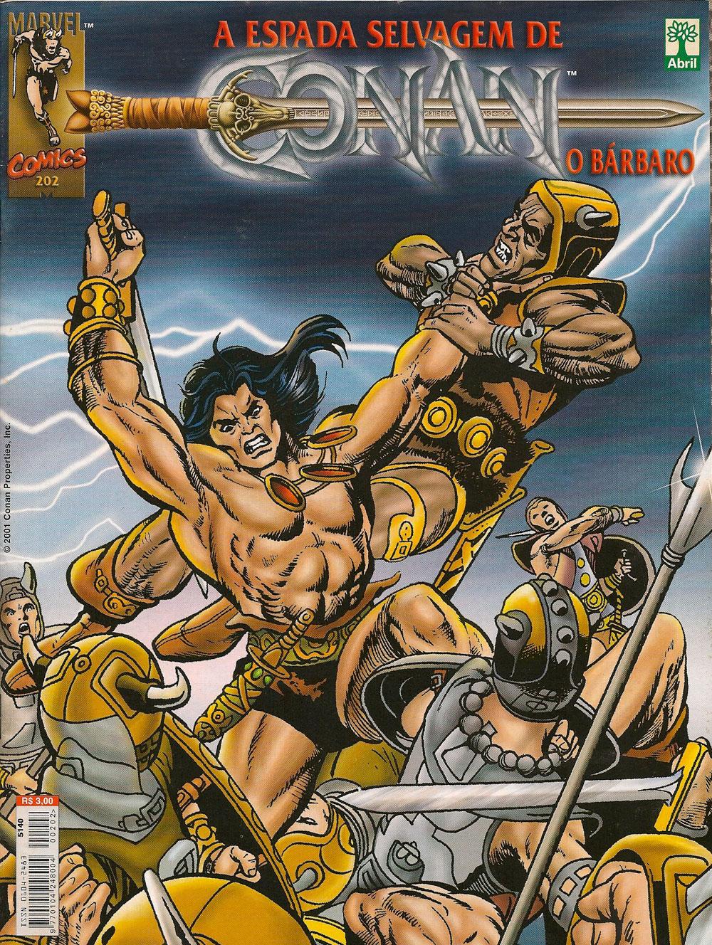 Capa: A Espada Selvagem de Conan 202