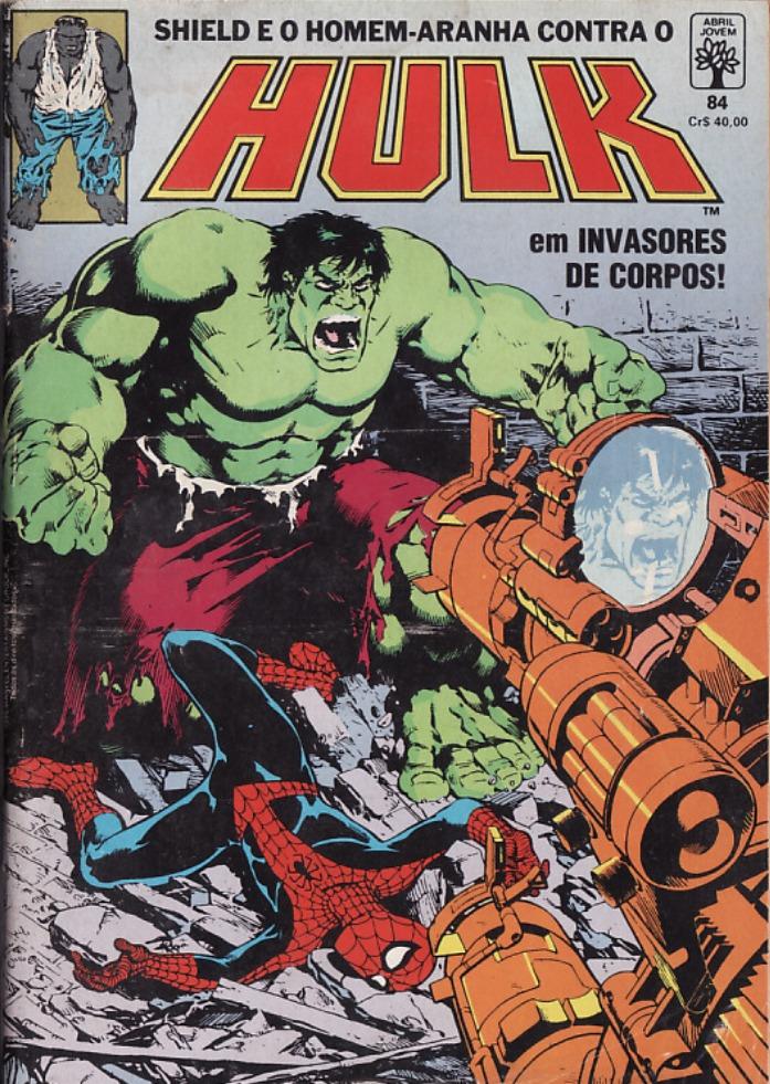 Capa: O Incrível Hulk Abril 84