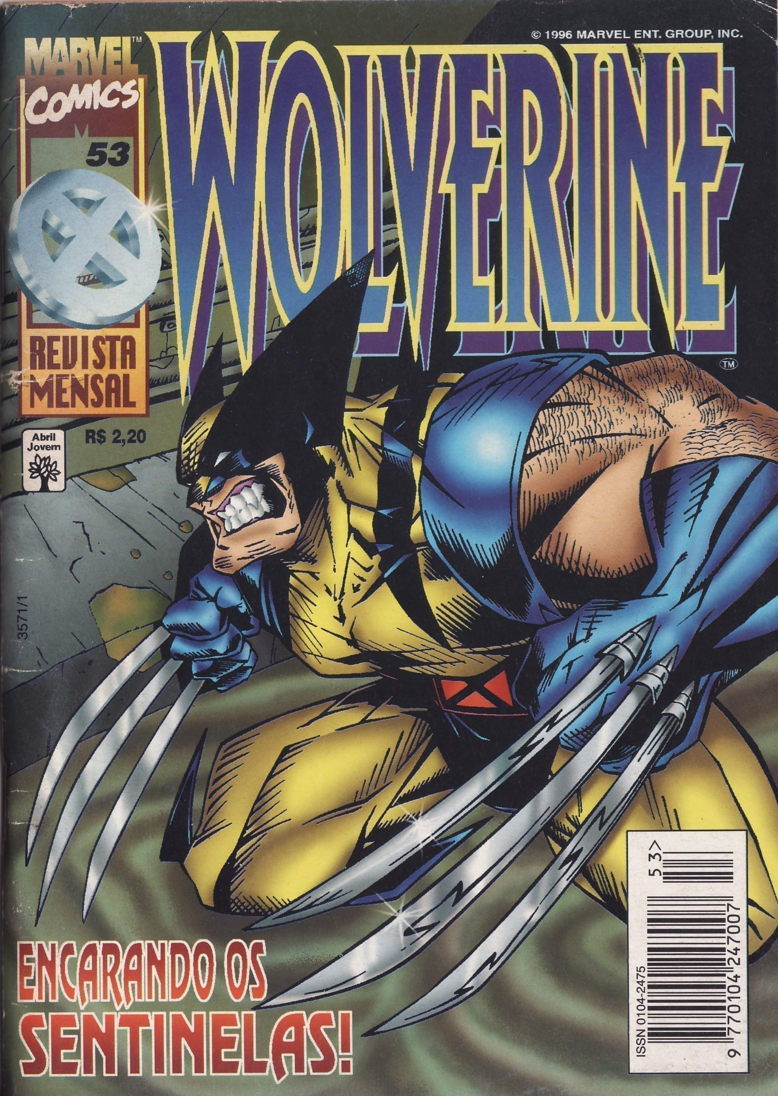 Capa: Wolverine Abril 53