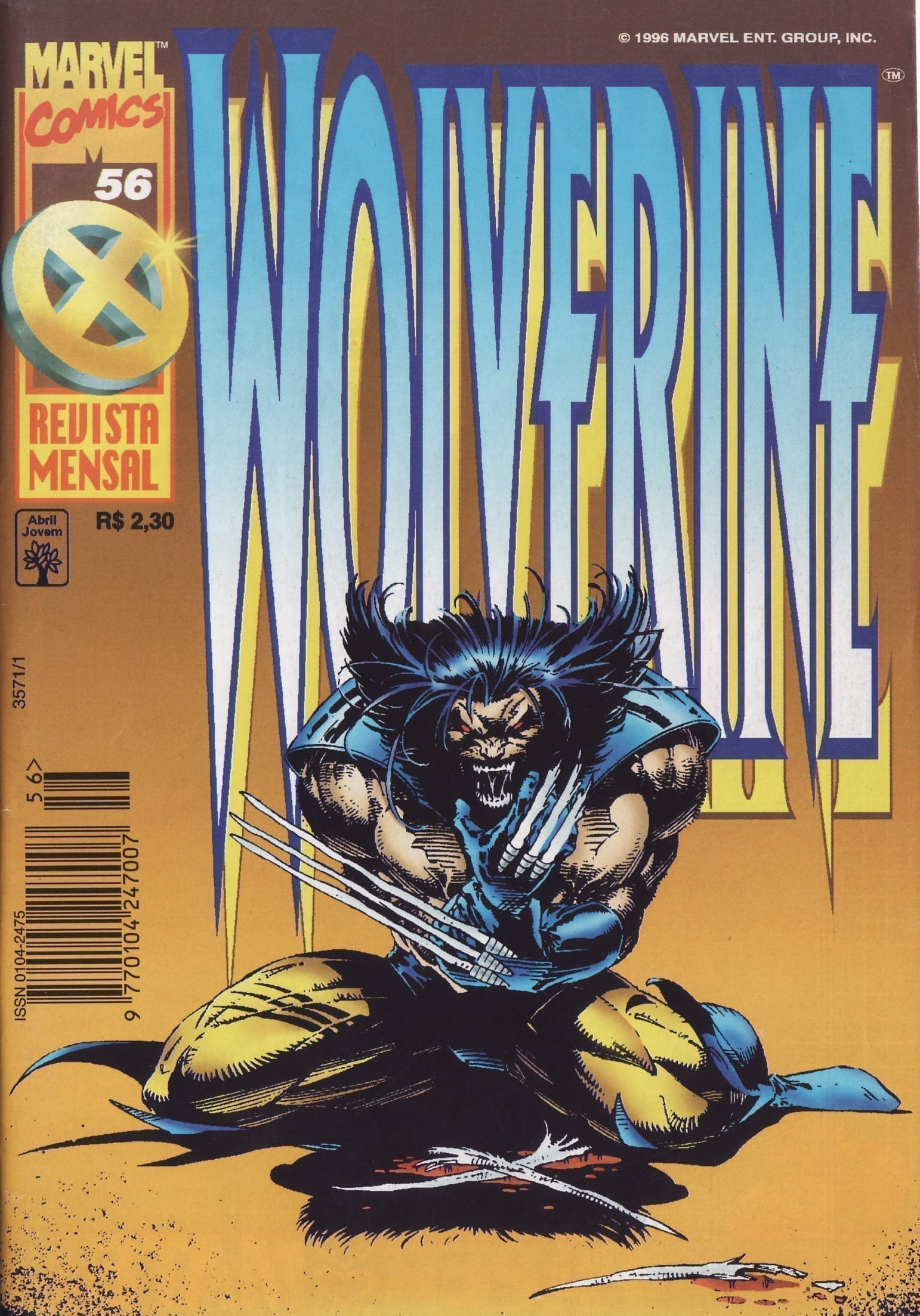Capa: Wolverine Abril 56