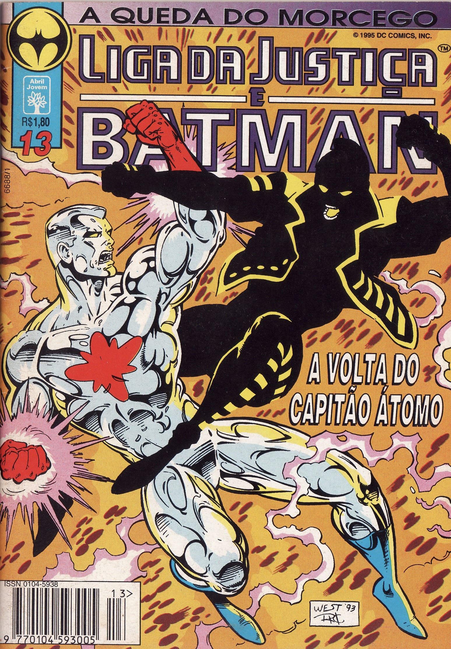 Capa: Liga da Justiça e Batman 13