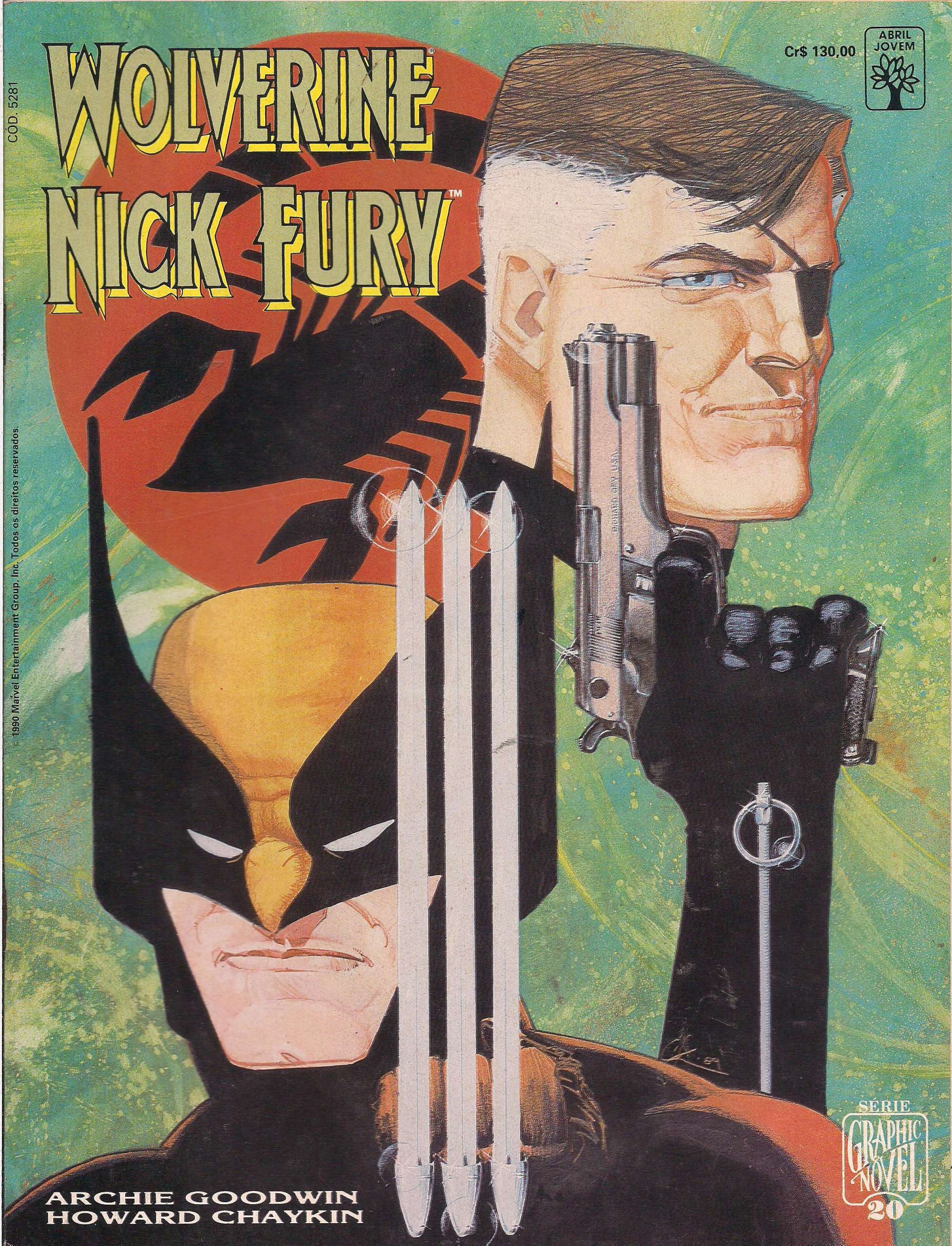 <span>Graphic Novel – Wolverine e Nick Fury – Conexão Scorpio 20</span>