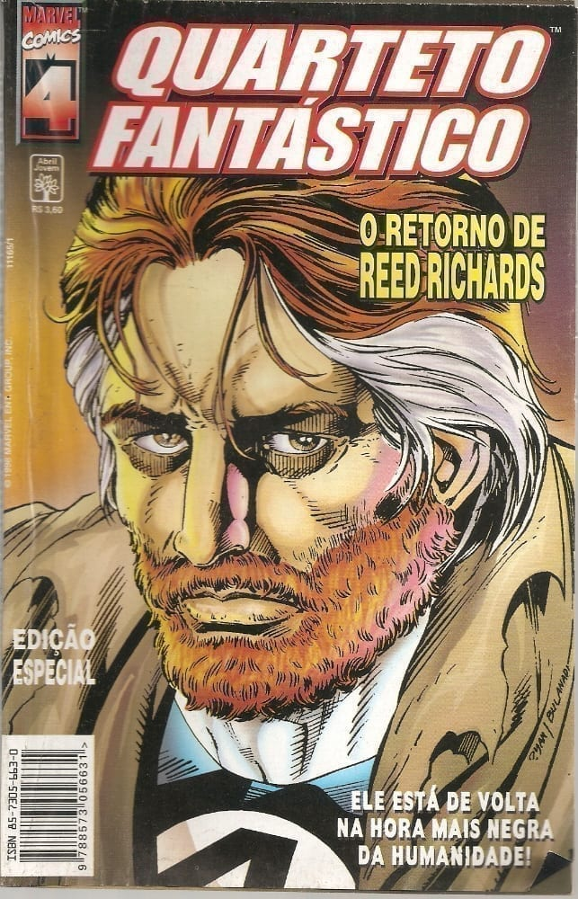 Capa: Quarteto Fantástico - O Retorno de Reed Richards 0