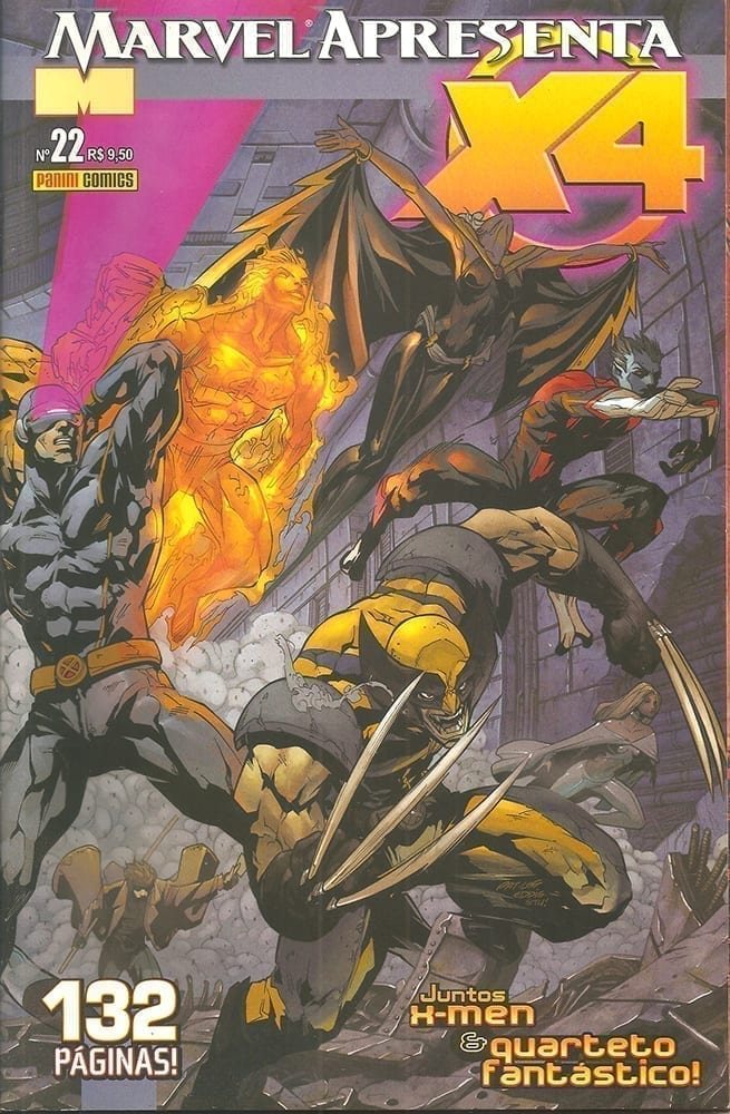 Capa: Marvel Apresenta - X4 - X-men & Quarteto Fantástico 22