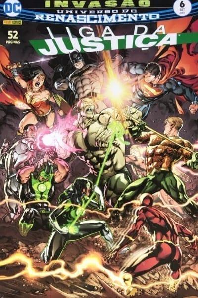 Capa: Liga da Justiça Panini 3ª Série - Universo DC Renascimento 6