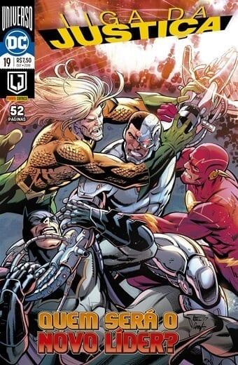 Capa: Liga da Justiça Panini 3ª Série - Universo DC Renascimento 19