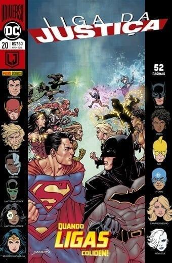 Capa: Liga da Justiça Panini 3ª Série - Universo DC Renascimento 20