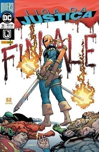 Capa: Liga da Justiça Panini 3ª Série - Universo DC Renascimento 21