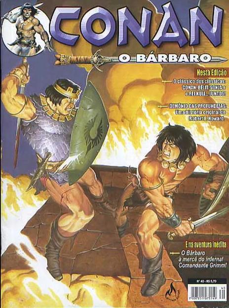Capa: Conan, O Bárbaro (Mythos) 40