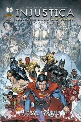Capa: Injustiça: Deuses Entre Nós - Edição Completa - Ano Quatro 4