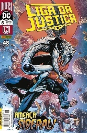 Capa: Liga da Justiça Panini 3ª Série - Universo DC Renascimento - 5 28