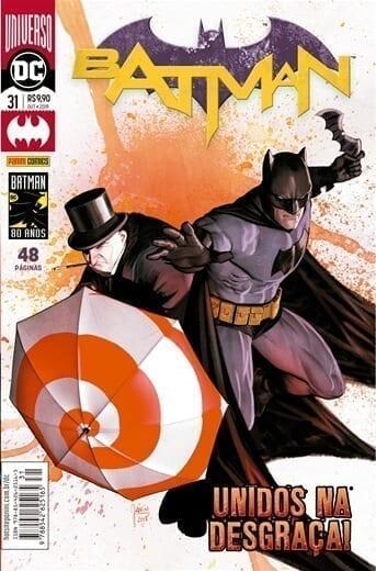 Capa: Batman Panini 3ª Série – Universo DC Renascimento 31