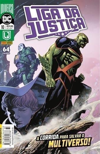 Capa: Liga da Justiça Panini 3ª Série - Universo DC Renascimento - 10 33