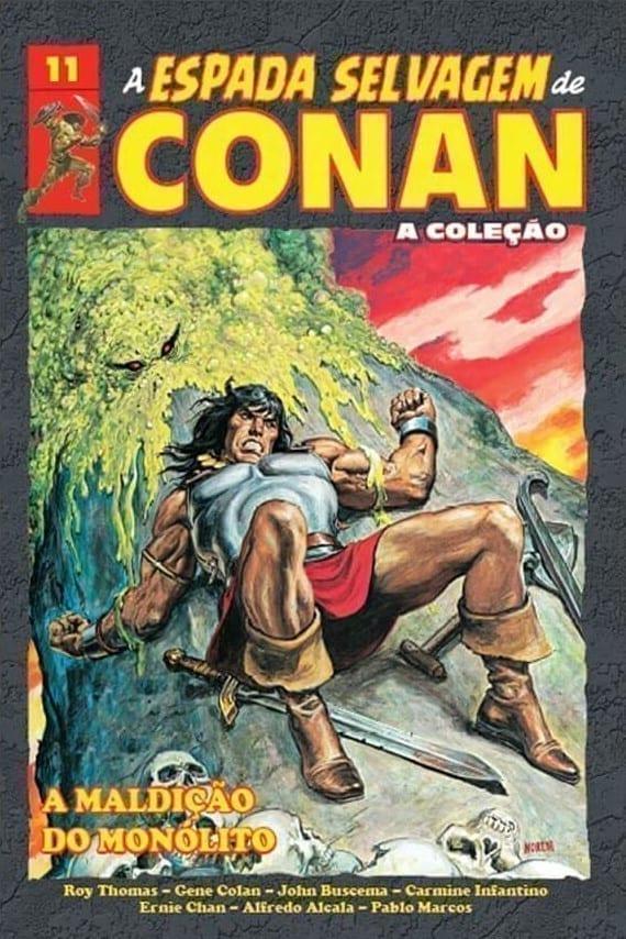 Capa: A Espada Selvagem de Conan - A Coleção - A Maldição do Monolito 11